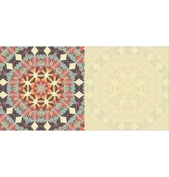 Flyer blank abstract retro ornate mandala vector