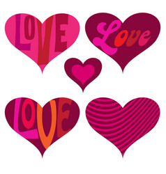 Mod valentines day hearts vector