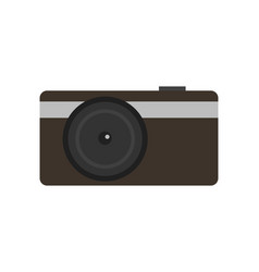 Modern compact digital photo camera icon vector