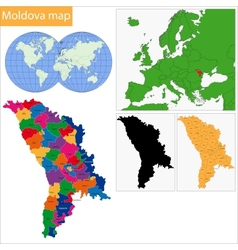 Moldova map vector