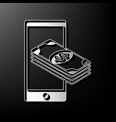 Payment refill your mobile smart phone vector