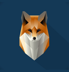 polygon fox vector image