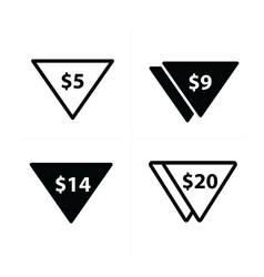 Price label set triangle style vector