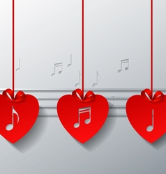 Red love music concept design vector
