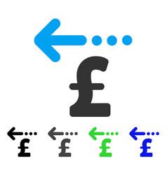 Refund pound flat icon vector