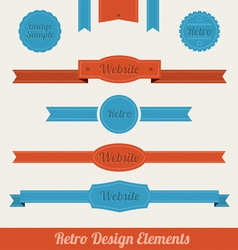 retro web elements vector image vector image