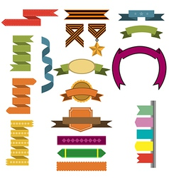 Ribbons and decorations vector
