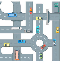 Road and cars background pattern vector