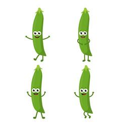 Set with cartoon peas vector