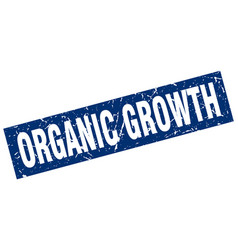 Square grunge blue organic growth stamp vector
