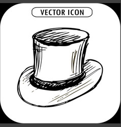 steampunk top hat vector image