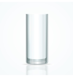 Transparent Glass vector image