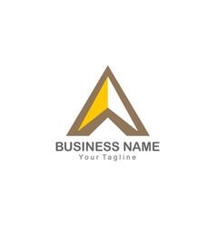 Triangle navigation shape colored logo vector