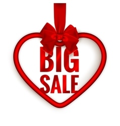 Valentines day heart sale EPS 10 vector image vector image
