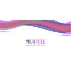 website header style abstract background vector image