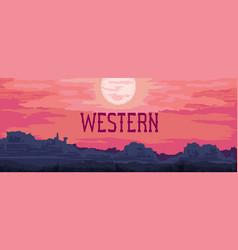 western landscape banner vector image vector image