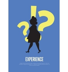Experience business banner with woman silhouette vector