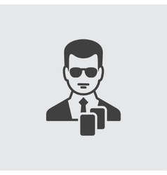 Dealer icon vector