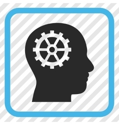 Intellect icon in a frame vector