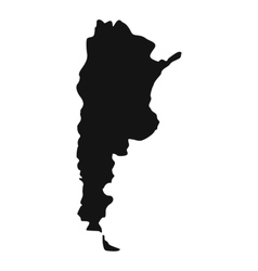 Map of argentina icon simple style vector