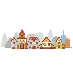 Funny cartoon city vector