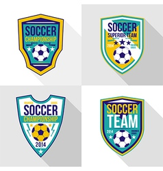 Set of soccer championship emblems vector