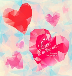 Triangle heart background vector
