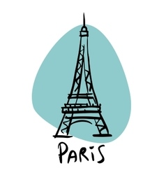 Paris the capital of france eiffel tower vector