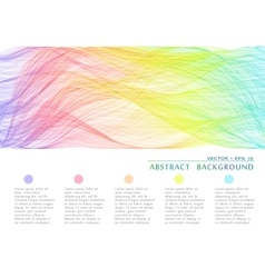 Wavy abstract bacground vector