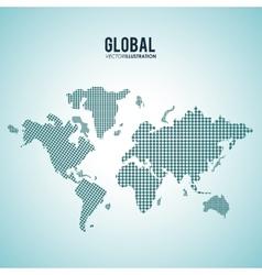 Global communication design vector image