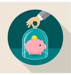 Concept for saving money vector image
