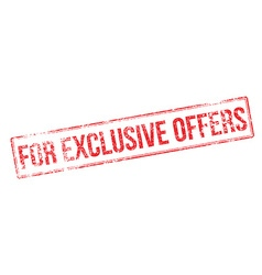 For exclusive offers red rubber stamp on white vector