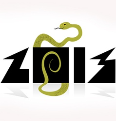 Snake symbol of 2013 on the chinese calendar vector