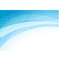 Abstract blue white waves grunge background vector