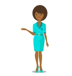 African black woman presentation vector