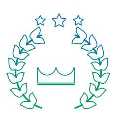 award crown wreath laurel honor sport vector image