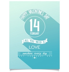 Beautiful happy valentines day poster vector