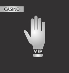 black and white style hand vip vector image