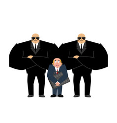 bodyguard services and businessman with suitcase vector image