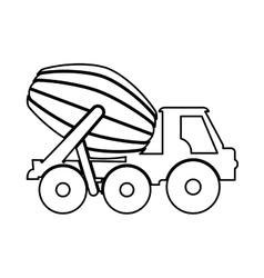 Concrete mixer icon under construction concept vector