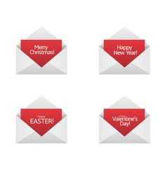 congratulations card set vector image