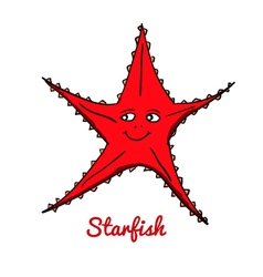 Cute cartoon starfish vector image