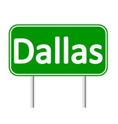 Dallas green road sign vector