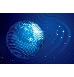 Disco globe vector