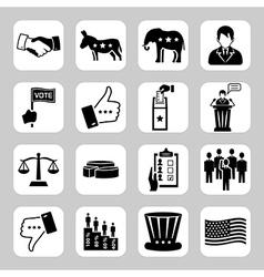 Election and voting icon set vector