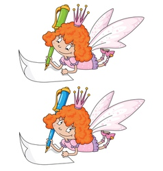 fairy and pen vector image