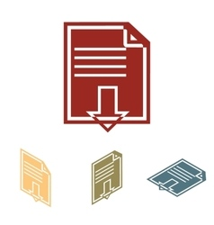 File download iconset isometric effect vector