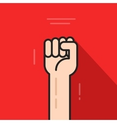 Fist hand up revolution logo idea freedom symbol vector image