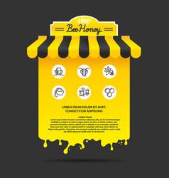 For advertising honey vector