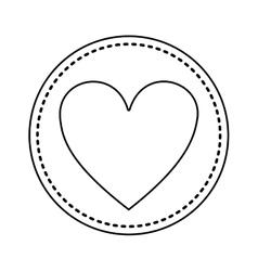 Green heart icon vector